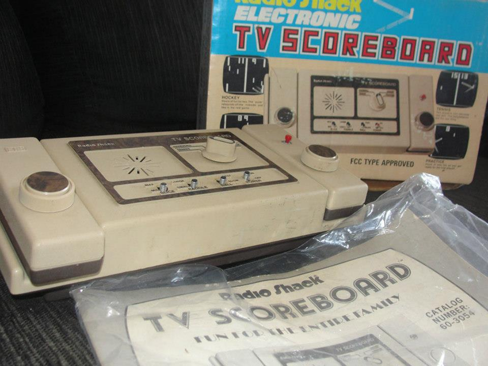 Videogame antigo - Radio Shack TV ScoreBoard - 1978