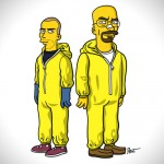 Personagens de Breaking Bad desenhados no estilo do The Simpsons