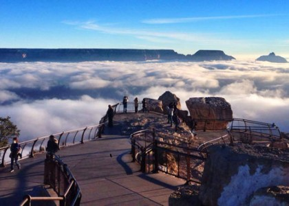 Fotos incríveis: as nuvens desceram do céu e tomaram conta do Grand Canyon